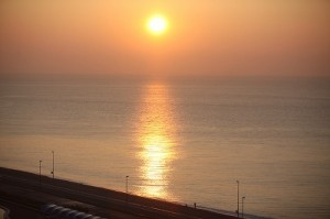 大磯の日の出